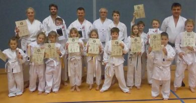 Weihnachtsprüfung Karate 2017