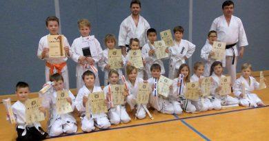 Gruppenfoto Karate Gürtelprüfung 2018