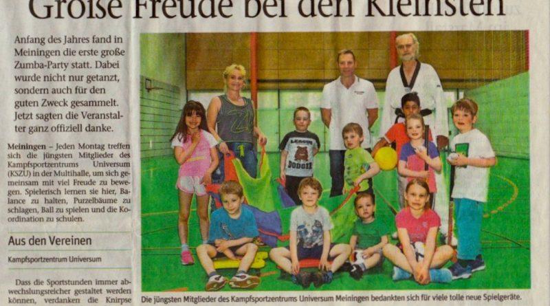Große Freude bei den Kleinsten Meininger Tageblatt 08.06.2016