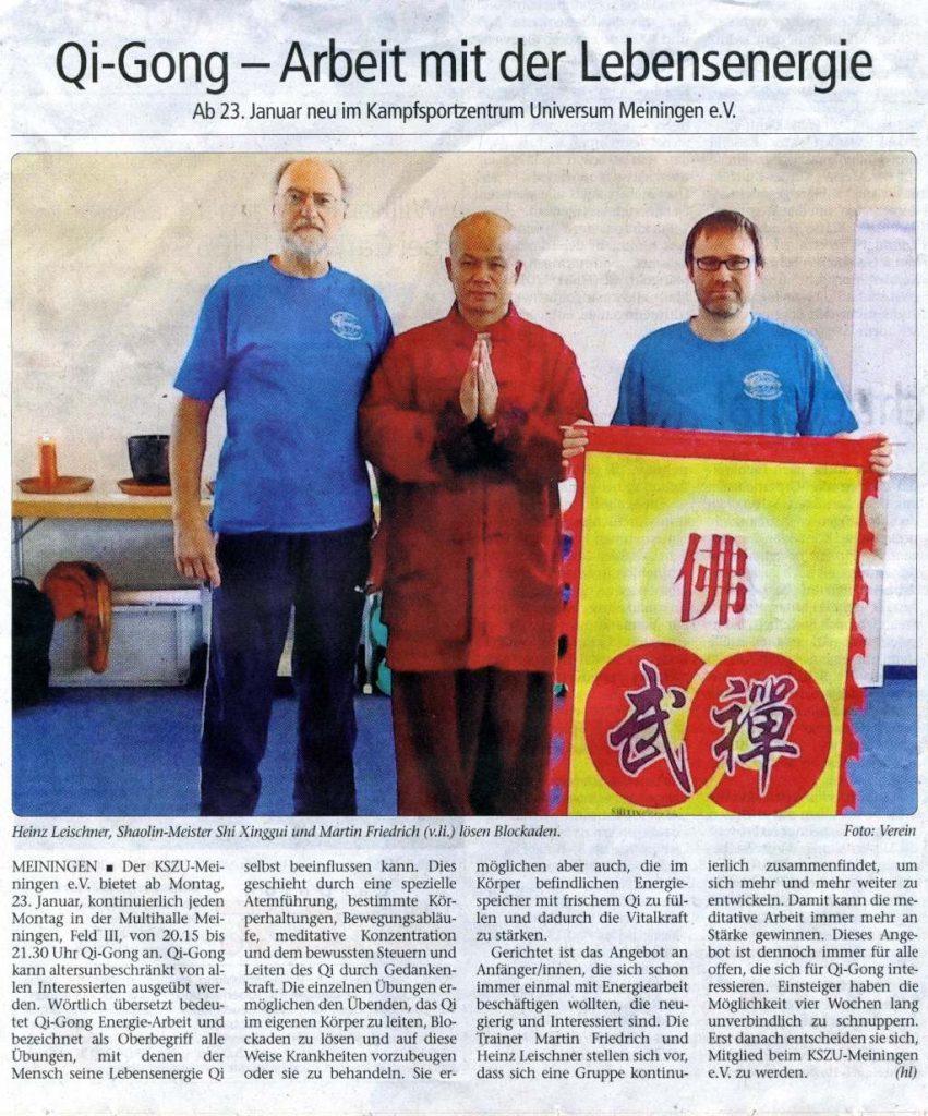 Qi Gong: Arbeit mit der Lebensenergie | Wochenspiegel vom 05.01.2017