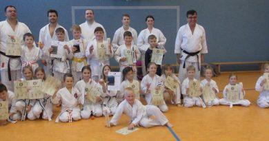 Gürtelprüfungen in den Abteilungen Karate und Taekwondo beim KSZU-Meiningen e.V.