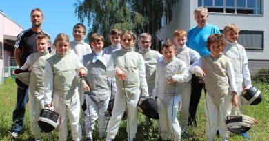 11 Kinder der Abteilung Fechten des KSZU-Meiningen e.V. bestanden ihre Turnierreifeprüfung