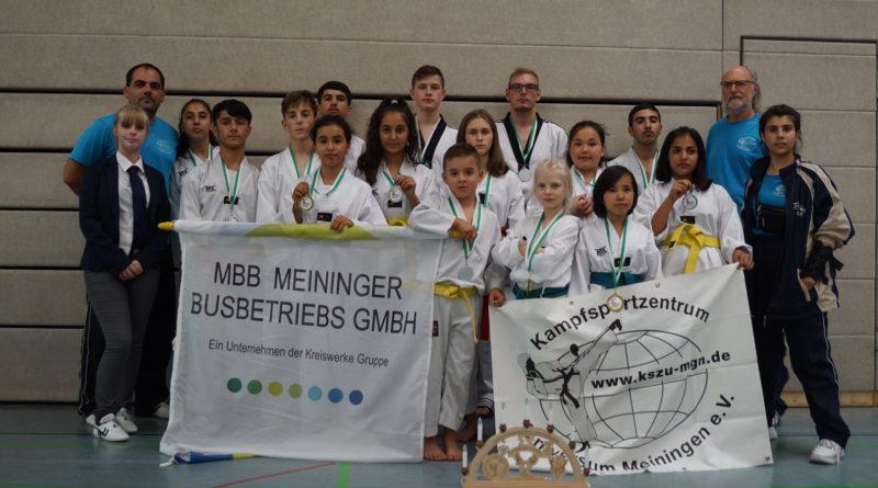 Erfolgreich bei der Sächsischen Meisterschaft im Taekwondo